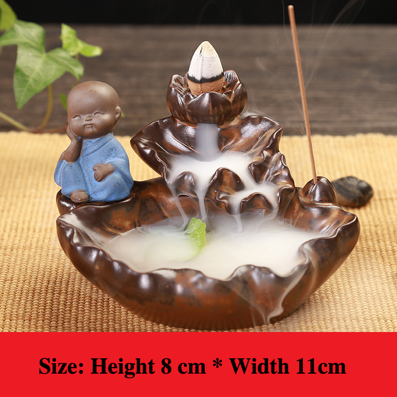 DMWOVB 30Pc Incense Cones Burner Incensory Buddha statue Incense cones Ceramic Censer Incense holder Burner Office Teahouse in Incense Incense Burners from Home Garden
