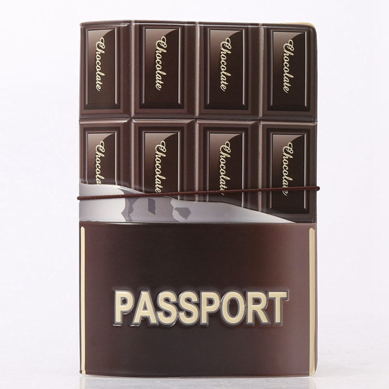 New 2016 Fashion Chocolate Pattern Travel Passport Cover ID Credit Card Bag 3D Design Card Holder PVC Passport Holder 14*9.6CM 3d design vintage world trip passport cover id credit card bag pvc leather passport holder 14 9 6cm