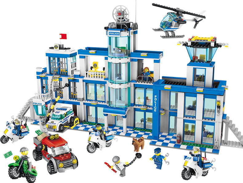 MCR new hot police station counter-terrorism center soldiers Building blocks Action Figure Toys For children mini legoing giftMCR new hot police station counter-terrorism center soldiers Building blocks Action Figure Toys For children mini legoing gift