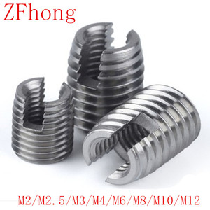 20pcs 10PCS 5PCS M2 TO M12 stainless steel Threaded Inserts Metal Thread Repair Insert Self Tapping Slotted Screw Threaded(China)