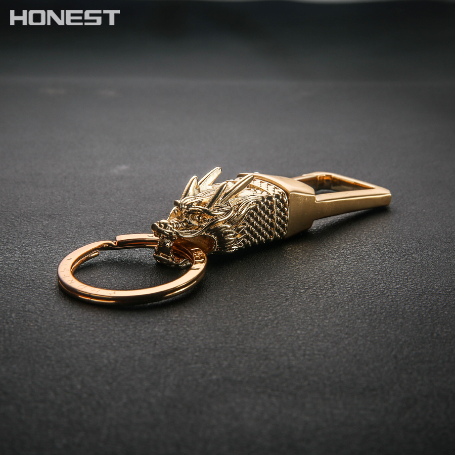 Brands HONEST 2017 New Totem Boutique Car Key Chain Holder Ring Dragon Men Keychain Bag Pendant Charm Alloy Charm Jewelry