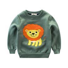 1-10 Years Children Hoodies Boys Girls Patch fleece Warm Hoodie Baby Sweatshirts Kid's Cartoon Sweaters roupa infantil menino