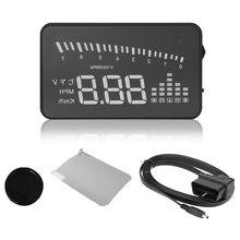 X5 3″ Car HUD Head Up Display Speed Warning Fuel Projector OBD II Speedometer
