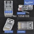 [RedStar] CAT5 UTP RJ45 TYF (8p8c) Rede cabeça de cristal blindado Tipo plug 5 plug de Telefone 100 PÇS/LOTE Frete Grátis