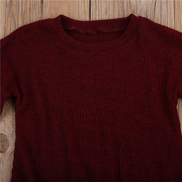 Г. Весенне-осенняя одежда для малышей футболка с длинными рукавами для маленьких девочек топы, свитер Детская футболка, пуловер Топ, Однотонная рубашка От 1 до 6 лет