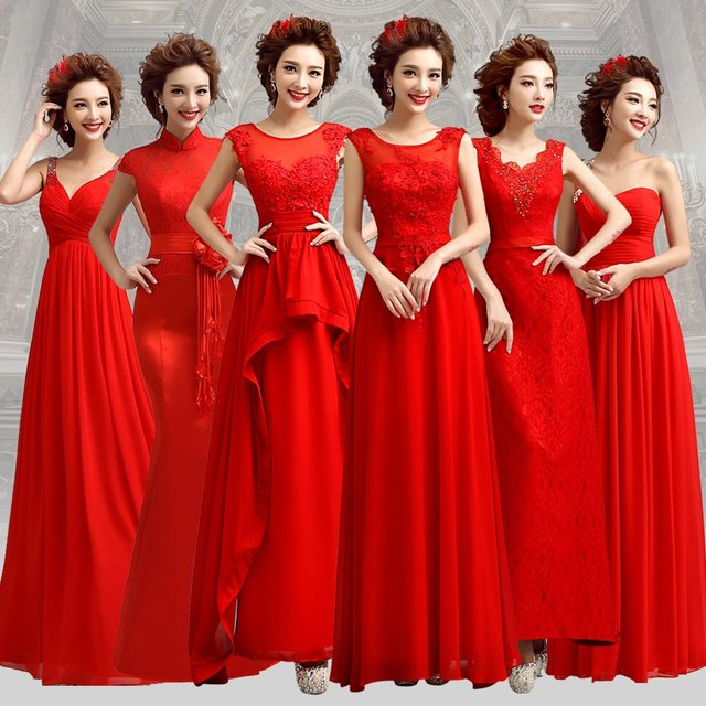 b3f85a920a US $60.99  s 2016 New Stock Plus Size Women Pregnant Bridal Gown Wedding  Dress Red Long Red Simple Wedding Dress Long Costume 5582-in Wedding  Dresses ...
