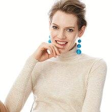 Earrings Ball Pendant Pom Pom Long Drop Earrings for Women Fashion Party Earring Jewelry Wholesale