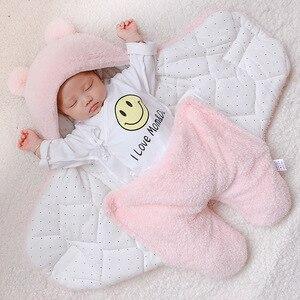 Image 1 - Coperta del bambino swaddle cotone morbido del bambino appena nato swaddle me wrap sleepping borsa decke cobertor infantil bebek battaniye cobijas bebe