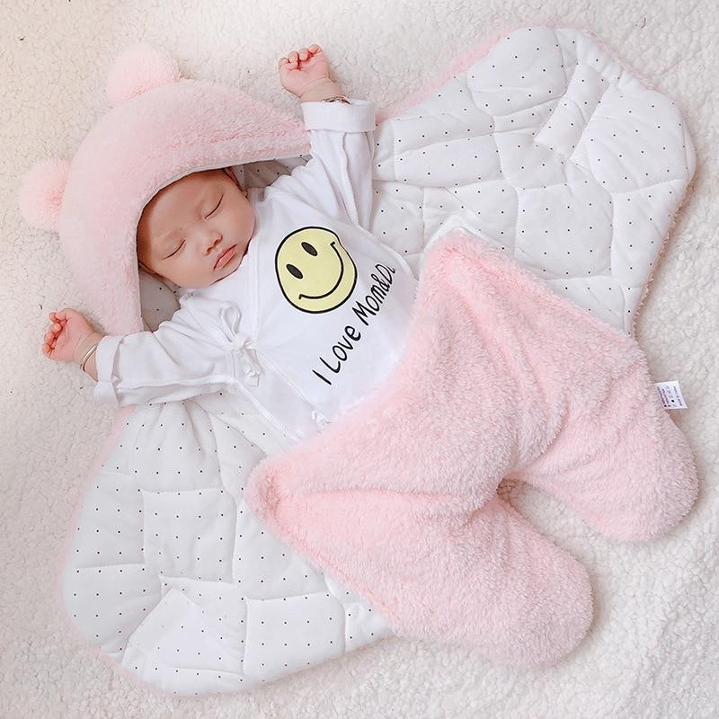 Manta de algodón suave para bebé recién nacido envolver me envolver la bolsa de sleepping decke cobertor infantil Beek battaniye cobijas bebe