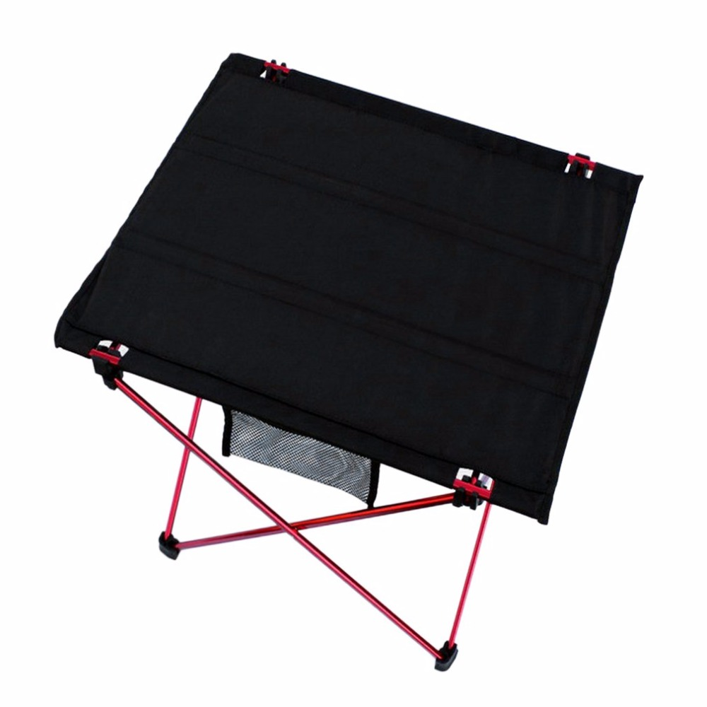 Outdoor Ultra-light Aluminum Alloy Folding Table Waterproof Portable Folding Table Desk For Picnic & Camping for Sales aluminum alloy magic folding table blue black bronze color poker table magician s best table stage magic illusions accessory