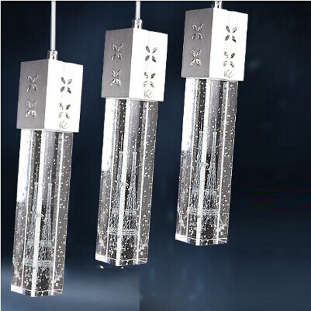 MAMEI Free Shipping Lights Crystal Led Pendant Light Fixtures For - 3 pendant light fixture island