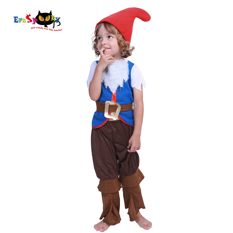 Eraspooky Christmas Elf Toddler Halloween Costumes For Kids Boys Fairy Tale Seven Dwarfs Cosplay Children Carnival Fancy Dress