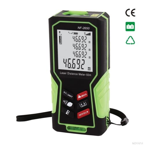 NF-2650 Digital Laser distance meter Handheld Laser Rangefinder Tape measure Distance/Area/Volume in Level Tool Lofting function talent designer loft retro bar restaurant bar iron warehouse european simple industrial control creative pendant light