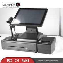 15 inch pos touch all in one pc with cash register 80 printer scanner pos for restaurant Supermarket pos machine