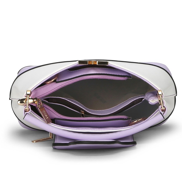 SUNNY SHOP 2017 new women bag bucket handbags shoulder messenger crossbody bags fashion panelled clutch hot sale pu tote mb38