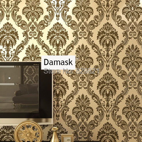 Vintage Damask Wall Paper 3D Floral Wallpaper European for Living Room Bedroom Wall Decorative Home Decor White Coffee Beige damask wallpaper for walls 3d wall paper mural wallpapers silk for living room bedroom home improvement decorative