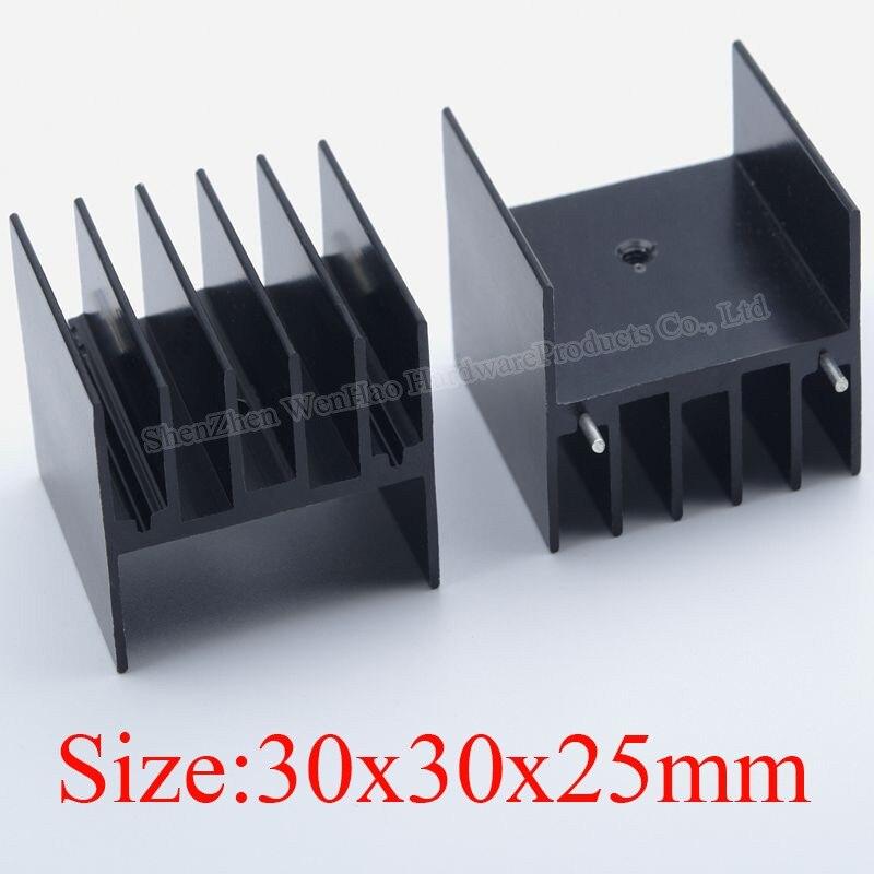 Aluminium Cooling Heatsink Power IC Heat Sink 30x30x25mm