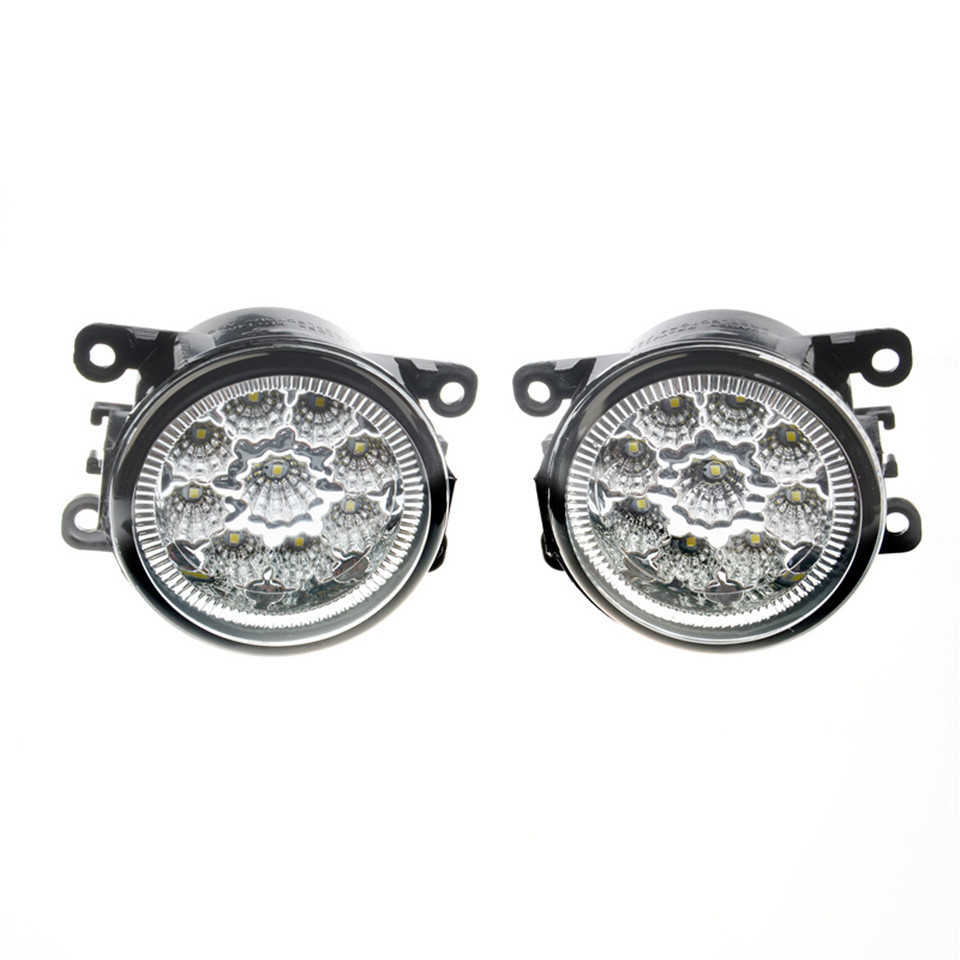 Pour Dacia Logan Duster Sandero 2004-2015 6000 k 12 w CCC E2 LED Feux de Brouillard DRL Lampes 2 pcs