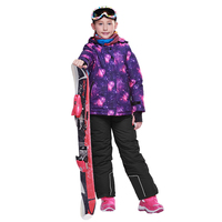 Dollplus 2019 Winter Windproof Waterproof Children's Suits Outdoor Sports Suits for Girls Warm Clothes Jacket Pants 2pcs