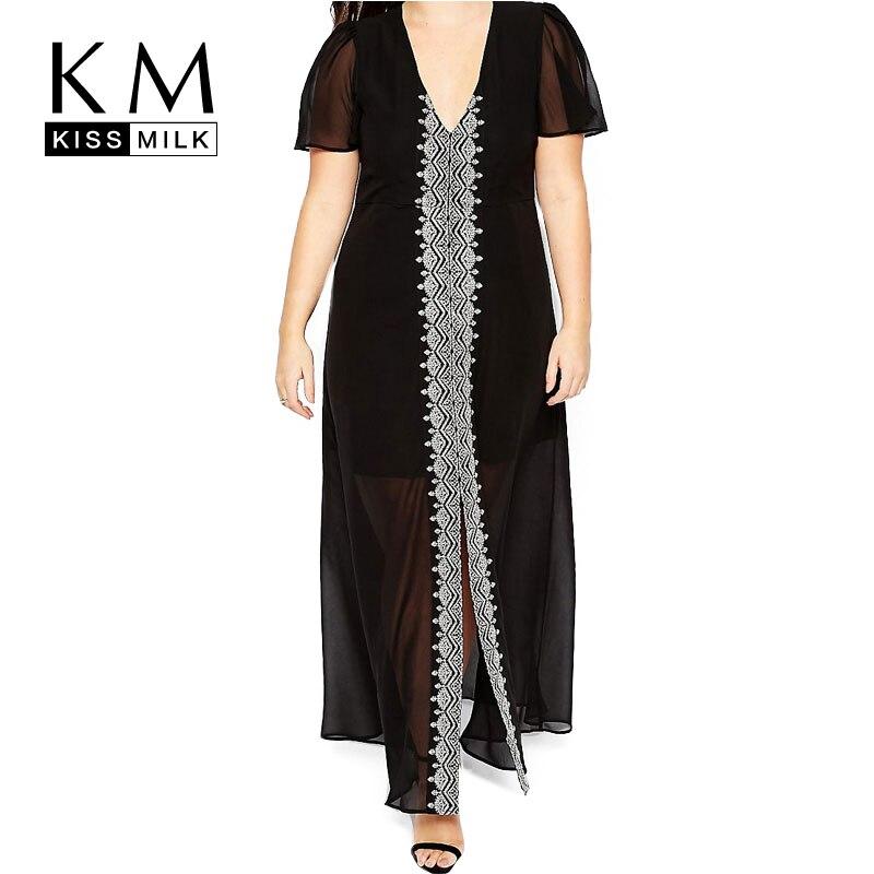 Kissmilk Plus Size Nuevas Mujeres Largo Vestido de Noche Grande tamaño Camisón T