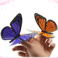 10pcs Magic Appearing Butterfly From Empty Silk Freedom Butterfly Magic Tricks Toy Close Up Stage Magic
