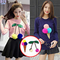 2017 Pom Pom Ball Cherry Ice Cream Embroidered Sew On Patches for clothes DIY Coat Sweater T shirt Clothing Patch Applique