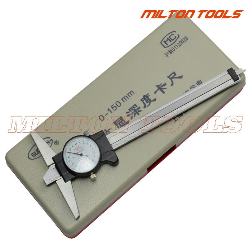 "0-150 мм "" из нержавеющей стали Циферблат глубина штангенциркуль микрометр глубиномера с циферблатом"