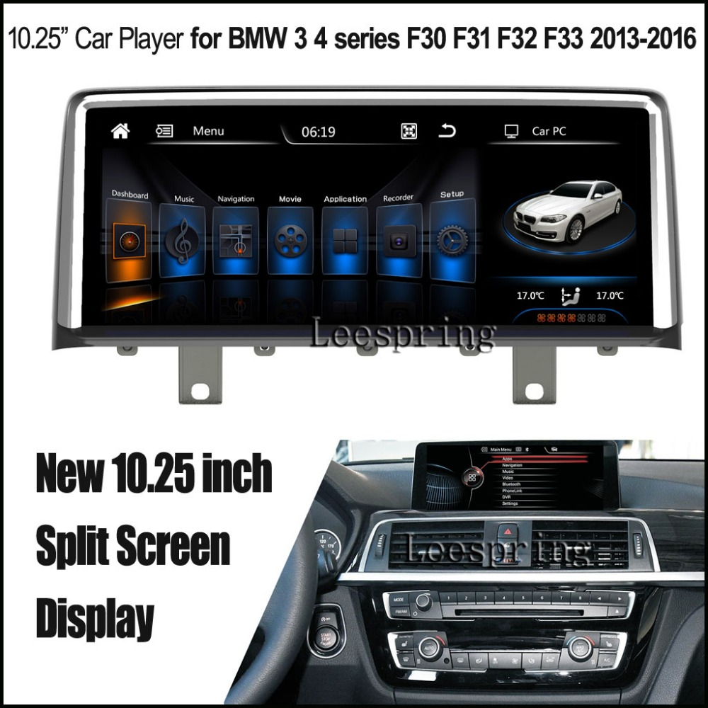 New 10 25 inch Split Screen Android 4 4 Car Player for BMW 3