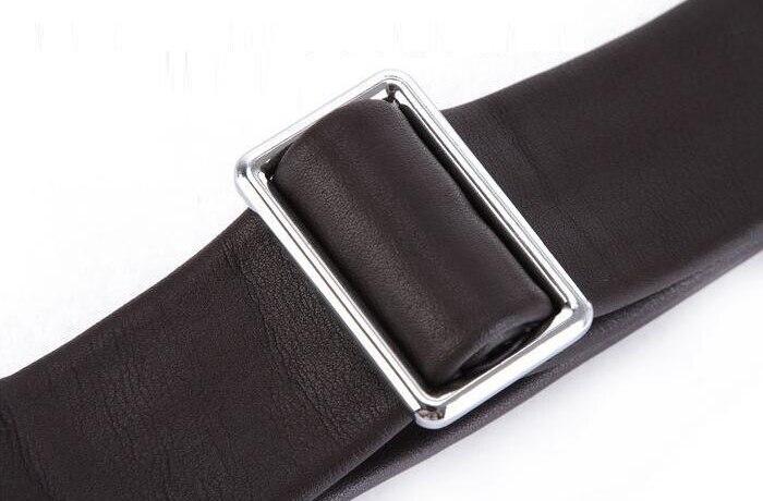150cm Genuine Leather Bags Strap Detachable Handle Replacement Mens Shoulder Silver Buckle Bag Accessories Buckle Belts