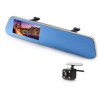 4 3 Inch Car Rear View Mirror DVR With 2 Cameras Dashcam 1080P Video Registrator Recorder