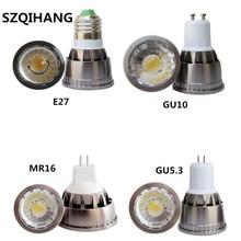 Led Spotlight Lamp Bulb Dimmable Mr16 Gu10 Gu5.3 E14 E17 E27 E26 AC/DC12V 90V-260V COB LED Spot Light lamps