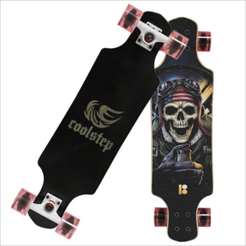 Professional Skate Board Canadian Maple Longboard Dancing Flamingo Skateboard Slide Fast 70MM PU Wheels Durable Deck 78*21cm 2016 new peny board skateboard complete retro girl boy cruiser mini longboard skate fish long board skate wheel pnny board 22