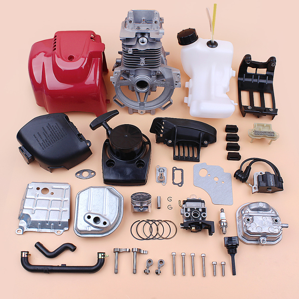 Kurbelgehäuse Zylinder Abdeckung Vergaser Zündspule Motor Kit Für Honda GX35 GX35NT HHT35S 4-Hub Kleine Motor Motor Brushcutter