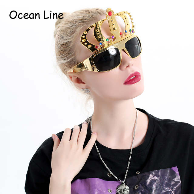 0f21474434b placeholder Beautiful Crown with Jewel Hen Party Costume Glasses  Electroplating Sunglasses for Birthday Gift Party Supplies Decoration