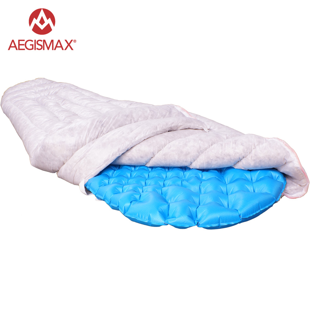 AEGISMAX Ultralight Envelope Sleeping Bag bulkiness FP850 Filling 95% Gray Goose Down 290g Camping Hiking Outdoor Sleeping Bags