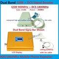 Полный Комплект GSM 900 4 Г LTE 1800 FDD Dual Band Ретранслятор ЖК-Дисплей дб Усиления GSM 900 DCS 1800 мГц мГц Сотовой Подвижной Сигнал Booster