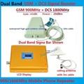 Conjunto completo GSM 900 4G LTE FDD 1800 Dual Band Repetidor Display LCD Ganho de 65dB GSM 900 mhz DCS 1800 mhz Sinal Móvel Celular Booster
