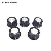 potentiometer knob 5pcs/lot MF-A03 A03 Potentiometer Knob Cap Inner 6mm 28x15mm Rotary Switch Bakelite Knob copper core inner for WHT118 WX050 (4)