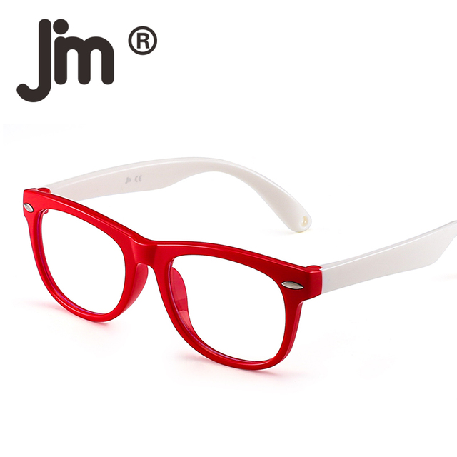 1d139cd04b58 JM Kids Blue Light Blocking Glasses Children Anti Eyestrain Eyewear for  Computer