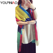 2016 Brand New Style Womens Colorful Plaid Silk Shawl Scarf Big Size Tartan Pashmina Scarves