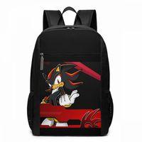 Sonic The рюкзак с ежом Shadow The рюкзак с ежом s дорожная Подростковая сумка высокого качества многофункциональные сумки с узором для мужчин и женщ...