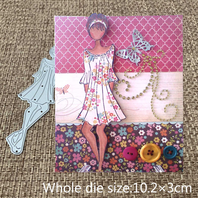 New Design Craft Metal Cutting Dies cut die lovely dress girl Scrapbooking Album Paper DIY Card Craft Embossing Die Cuts