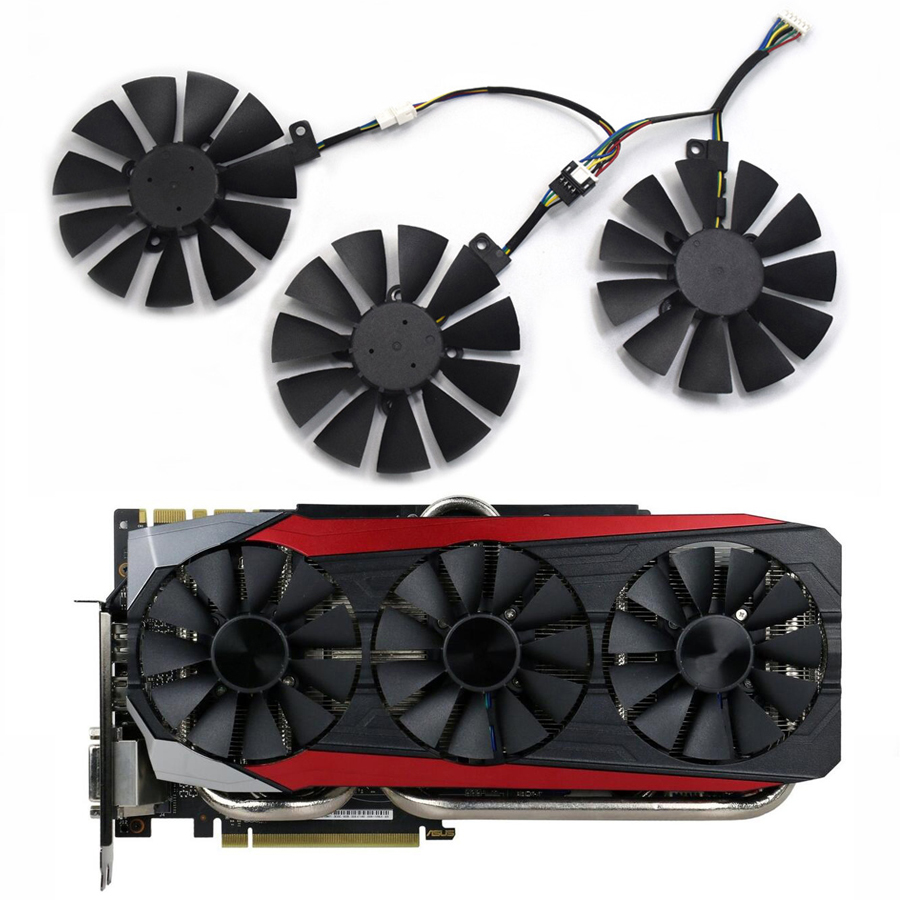 New 87MM Everflow T129215SU DC12V 4Pin 4 Wire Cooling Fan For ASUS R9 390X 390 GTX1070TI GTX1080TI Gaming Graphics Card Fans