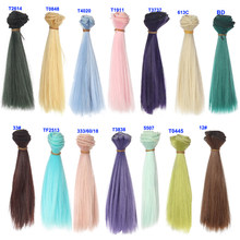 15cm thick bjd wigs doll hair for barbie doll for monster high doll for blythe doll wigs(China)
