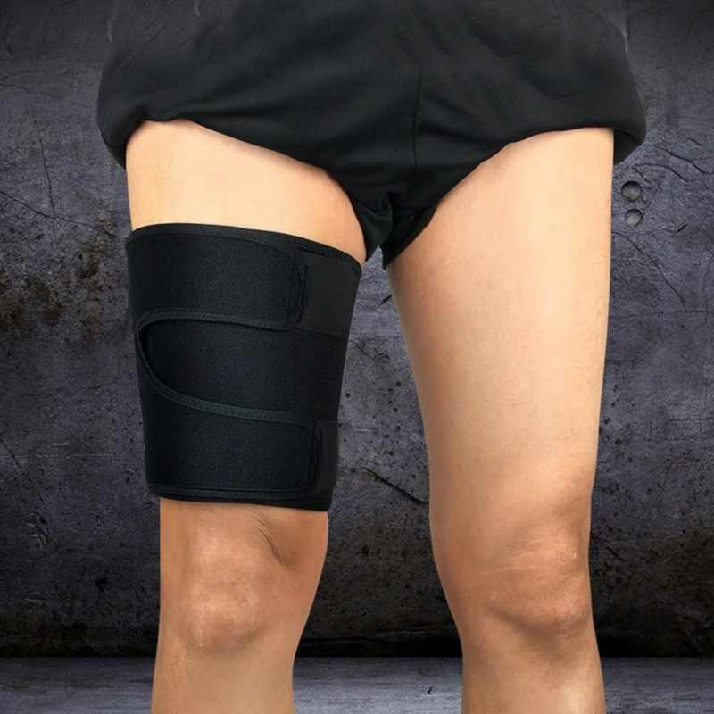dab8480b7446e7 ... High Elastic Adjustable Compression Leg Warmers Sports Running Sport  Anti-muscle strain Protector Thigh Upper