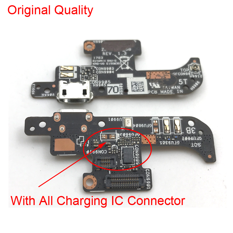 New Micro Charger Connector Plug Board  For Asus Zenfone Live ZB501KL USB Charging Dock Port Flex Cable Ribbon Replacement Parts