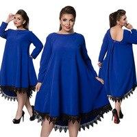 Indischen Kleid Sari 2018 Herbst Und Winter Verkauf Neue Produkte, European American Kleid, reine Farbe Modische Elegante Rock