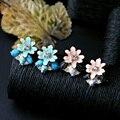 1 Пара Корейской Моды Эмаль Цветы Себе Необычные Серьги Новое Поступление Женского Уха Шпильки