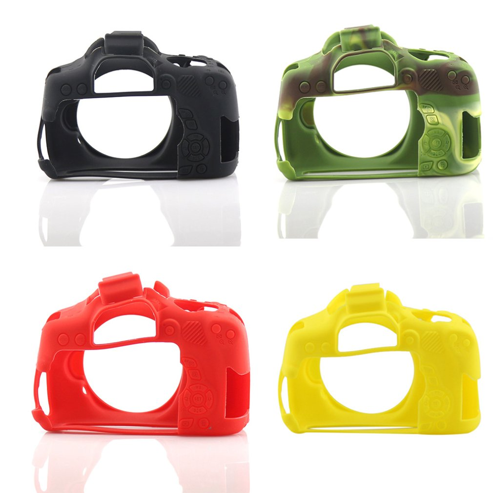 Camera case non-slip wear-resistant comfortable portable durable For Canon 750D/800D/200D Silicone Case for creative