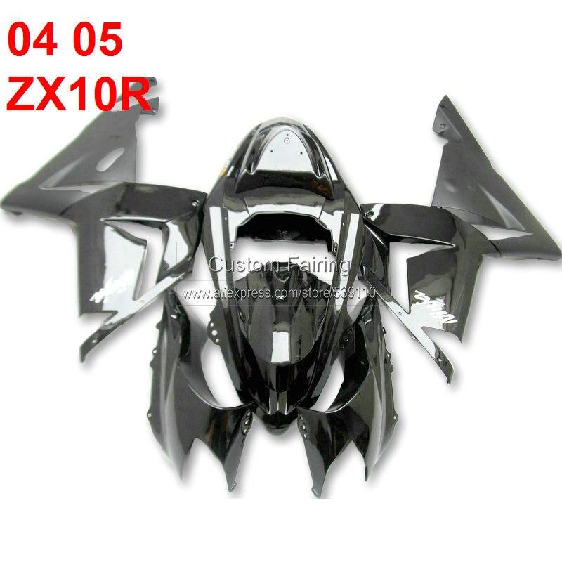 Черный для Kawasaki ниндзя ZX10R 2004 2005 матовый черный 04 05 обтекатель комплект обтекателей [xl125]